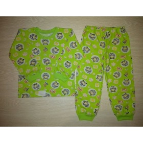 Пижама кулир рис. Машинки цв.зеленый р.26; 28