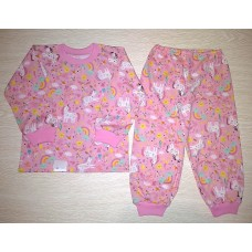 Пижама кулир рис. Пони цв.розовый р.24