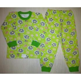 Пижама футер начес Racing цв.зеленый р.30
