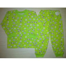 Пижама кулир рис. Слоники цв.зеленый р.26