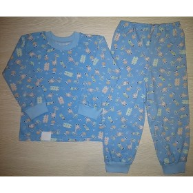 Пижама кулир рис. Giraffe цв. голубой р.26; 28